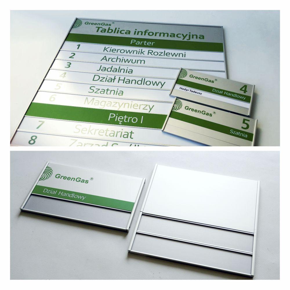 tabliczki aluminiowe