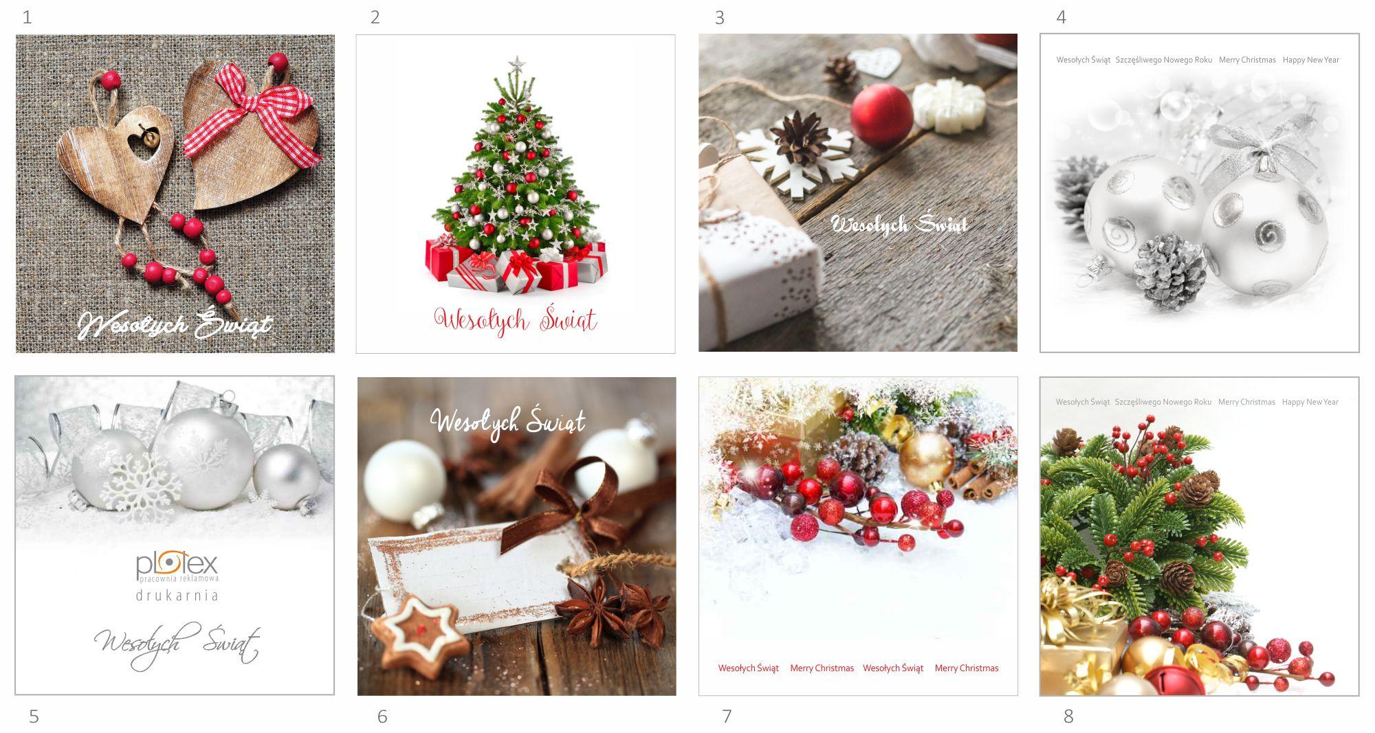 kartki świąteczne z logo 1