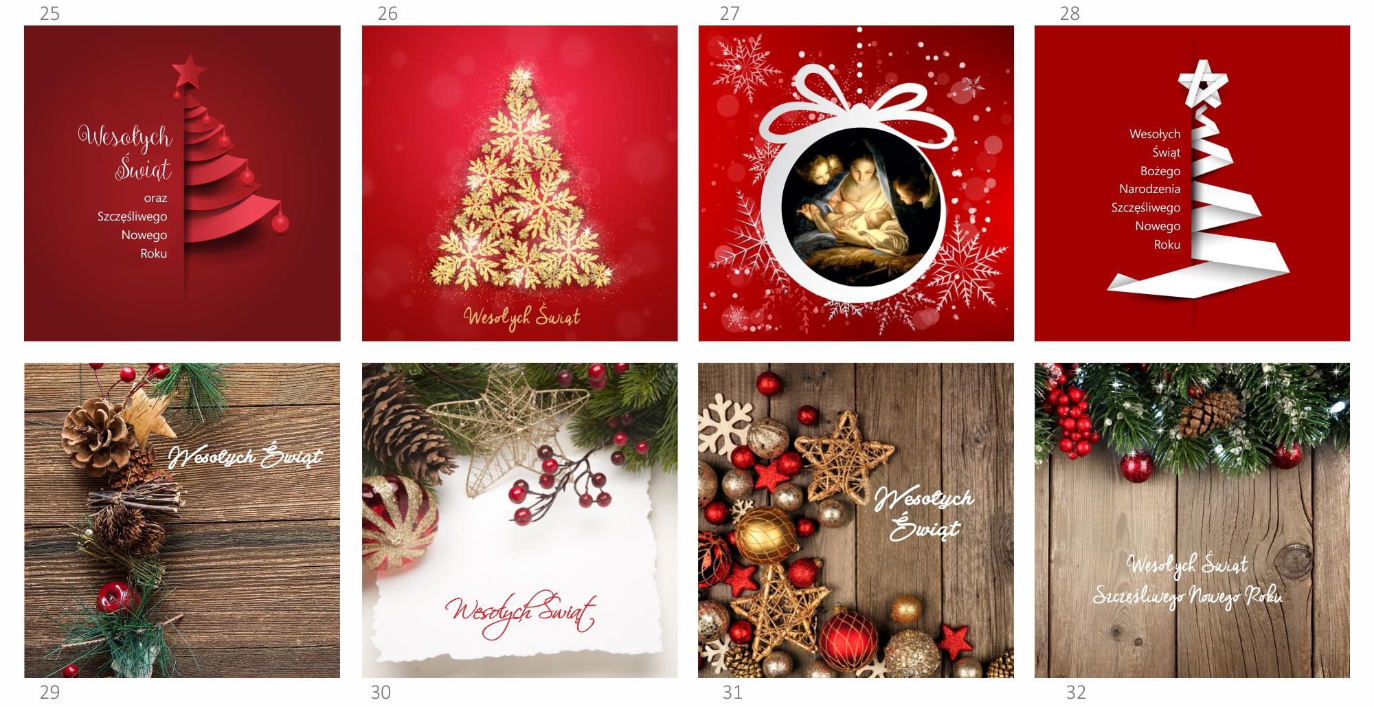 kartki świąteczne z lo0go 8